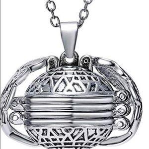 Expanding Photo Locket Necklace Heart Ball Lock